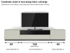 soundbar tv meubel soft beige